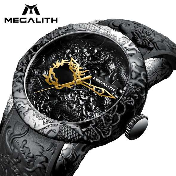 MEGALITH Fashion Gold Dragon Sculpture Watch -  THE EASY LOVE SHOPPE