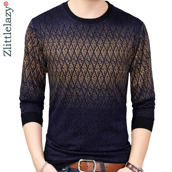 2018 brand new hot casual social argyle pullover men sweater shirt jersey clothing pull sweaters mens fashion male knitwear 151 -  THE EASY LOVE SHOPPE