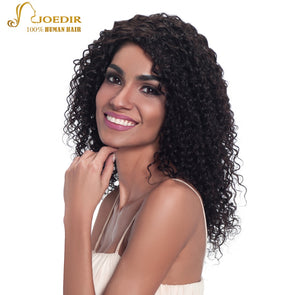 Joedir Brazilian Jerry Curl Curly Human Hair Bundles One Piece Natural Color Wet and Wavy Human Hair Curly Hair Extensions 100G -  THE EASY LOVE SHOPPE