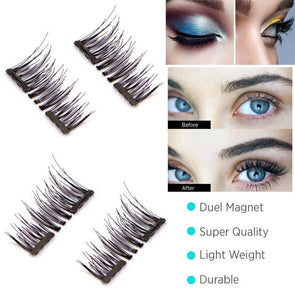 3D Magnetic False Eyelashes Natural Eye Lashes Extension Handmade 4 Pcs/1 Pairs -  THE EASY LOVE SHOPPE