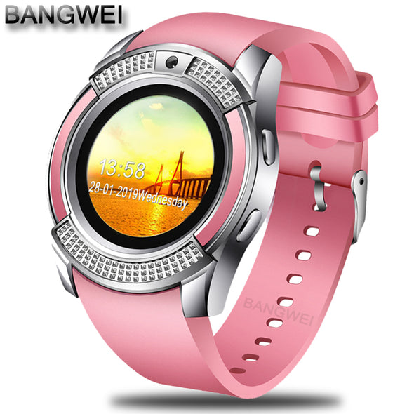 BANGWEI 2018 New Women Smart Watch LED Color Screen Fashion Sport Pedometer Clock Android Smart Phone Watch Relogio inteligente -  THE EASY LOVE SHOPPE