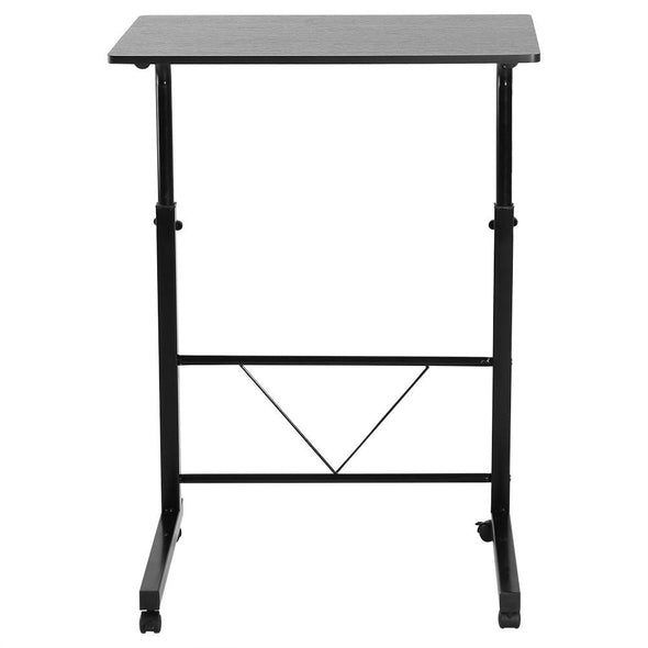 Height Adjustable Laptop Computer Table Standing Desk Movable Sofa Bedside Cart Tray Black -  THE EASY LOVE SHOPPE