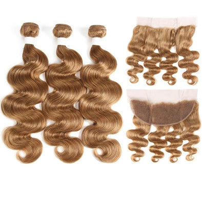 99J/Burgundy Human Hair Weave 3pc Bundles With Lace Frontal Closure -  THE EASY LOVE SHOPPE