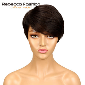 Rebecca Dark Brown Straight Hair Short Wig