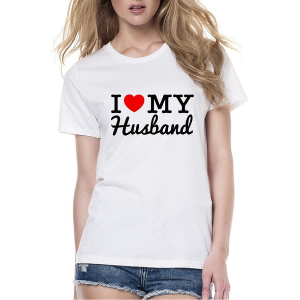 New Arrival Groom Bride Lovers TShirt Women Men I Love My Wife Husband Printing Tshirt Husband and Wife Wedding Anniversary Gift -  THE EASY LOVE SHOPPE