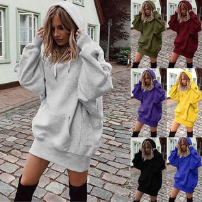 Solid Color Coat Hoodie/ Pullover