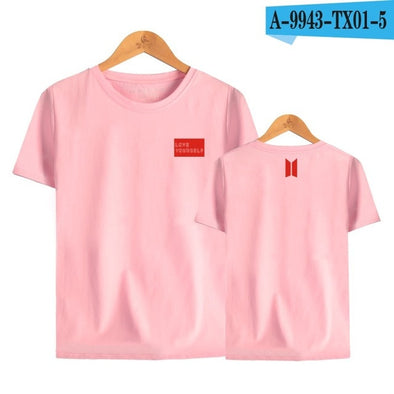 LUCKYFRIDAYF Kpop BTS Love Yourself Answer 2018 Summer World Tour Print T-shirts Women Fashion Cotton Short Sleeve Top Tshirts -  THE EASY LOVE SHOPPE