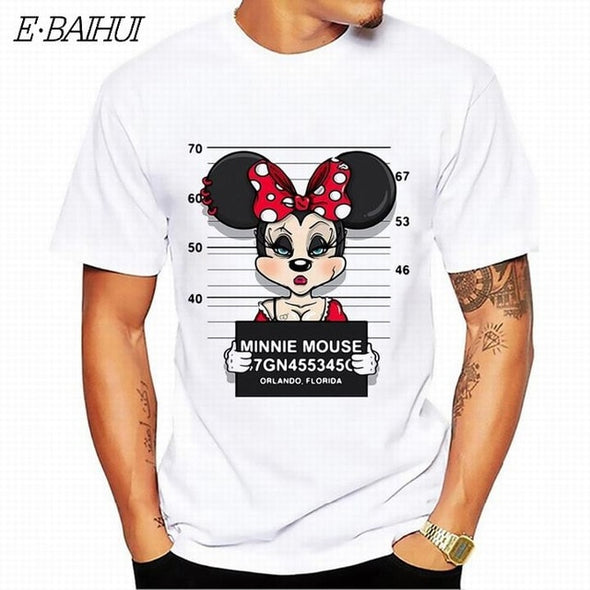 E-BAIHUI new mickey print tees mouse t-shirt men tops hip hop casual funny dog cartoon tshirt homme comfort cotton t shirt T-64 -  THE EASY LOVE SHOPPE