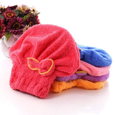 Coral Fleece Drying Towel Wrap -  THE EASY LOVE SHOPPE