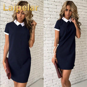 2018 Women Fashion Shirt Bodycon Dress w/Collar -  THE EASY LOVE SHOPPE