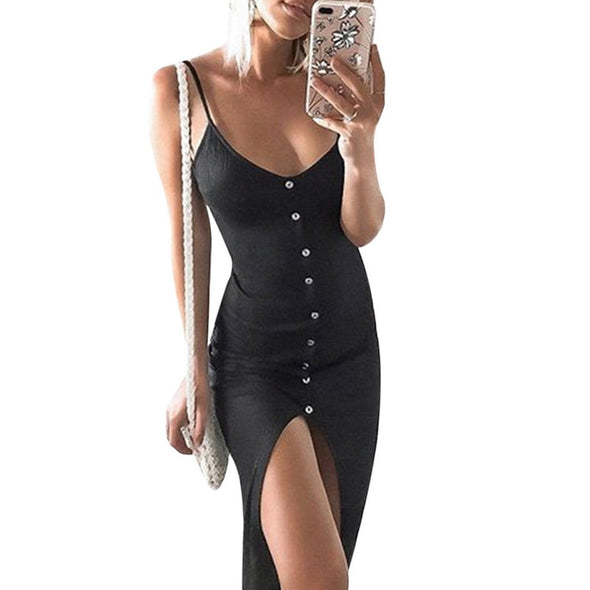 MoneRffi Sexy Slim Bodycon Ladies Sundress w/ Spaghetti Strap 6 Colors to Choose From!!! -  THE EASY LOVE SHOPPE