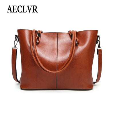 AECLVR Simple Style Lager Casual Totes Handbag For Women Solid Color Soft Pu Leather Shoulder Bag All-Match Female Crossbody Bag -  THE EASY LOVE SHOPPE
