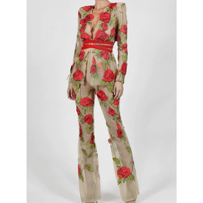 2019 Floral Embroidery Bodycon Bandage Suit -  THE EASY LOVE SHOPPE