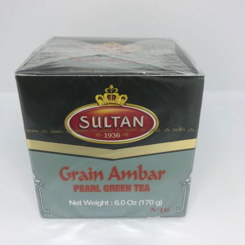 Sultan Grain Ambar Pearl Green Tea 170 Gram (6 oz) Made in Morocco