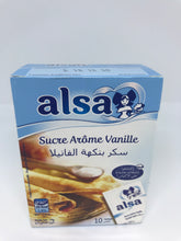 Load image into Gallery viewer, Alsa 10 Packs Sucre Arome Vanille (Vanilla Flavor) 75 Gram