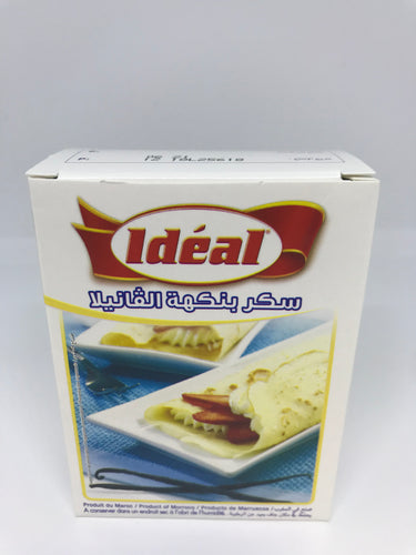 Ideal 10 Packs Sucre Arome Vanille (Vanilla Flavor) 75 Gram (2.64 oz)