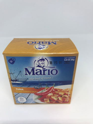 Mario The Best of Tuna in Hot Tomato Sauce 2.82 oz (80 Grams)
