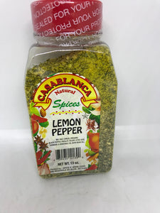 Casablanca Natural Spices Lemon Pepper 13 Oz