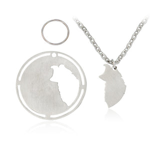 2 pcs stainless steel necklace & dog tag that matches [Choose yours NOW]