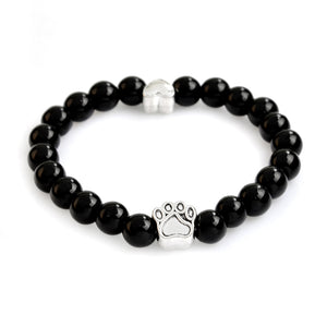 Dog Pow Bracelet made by hand, natural stone beads