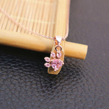 Load image into Gallery viewer, Cute Dog Paw Pendant Necklace [Rose Gold Plated]