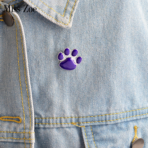 Purple Dog paw pin Badge [FOR PETS LOVERS]
