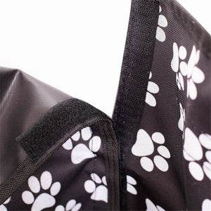 Dog carrier of Oxford Fabric, Paw pattern Seat Cover, Waterproof, Cushion Protector