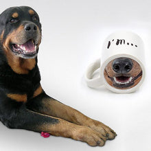 Load image into Gallery viewer, Funny ceramic dog nose coffee mug