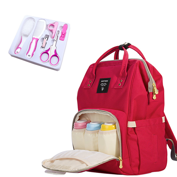PACK 2X1 : Sac à langer multi-fonction + Set BabyCare 6X1