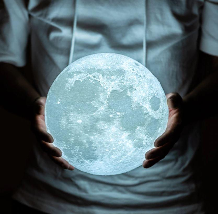 Lunar Rechargeable 3d Moon Lamp Led With Dimming Function Artyroom Switzerland