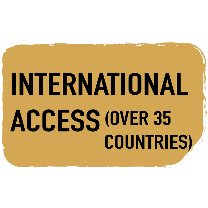 International Access (over 35 countries with upgrades)