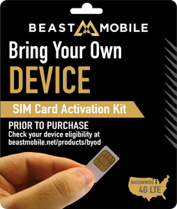 SIM card to Bring Your Own Device from METRO PCS