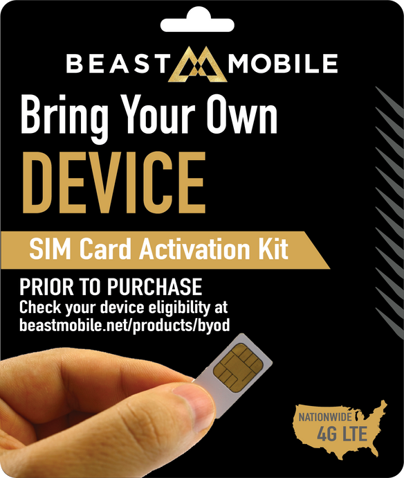 SIM card to Bring Your Own Device from AT&T