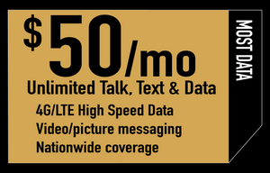 Unlimited Talk, Text & High Speed Data