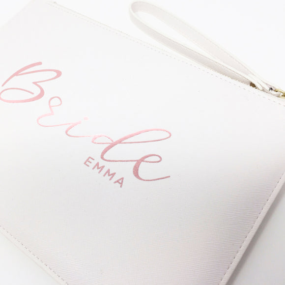 Personalised Bride Makeup Bag