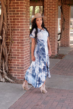 TIE DYE MAXI DRESS (Ocean Blue)