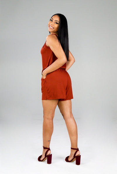Essential Romper (Dark Rust)
