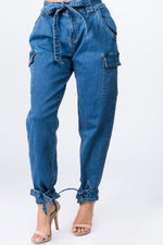Denim Cargo Pants (Curvy)