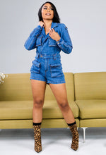 Cutting Edge Denim Romper