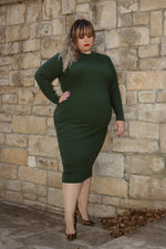 Hepburn Dress (Hunter Green) FINAL SALE