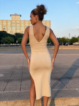 Victoria Dress (Taupe)