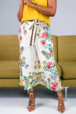 CROPPED PALAZZO PANTS (Floral)