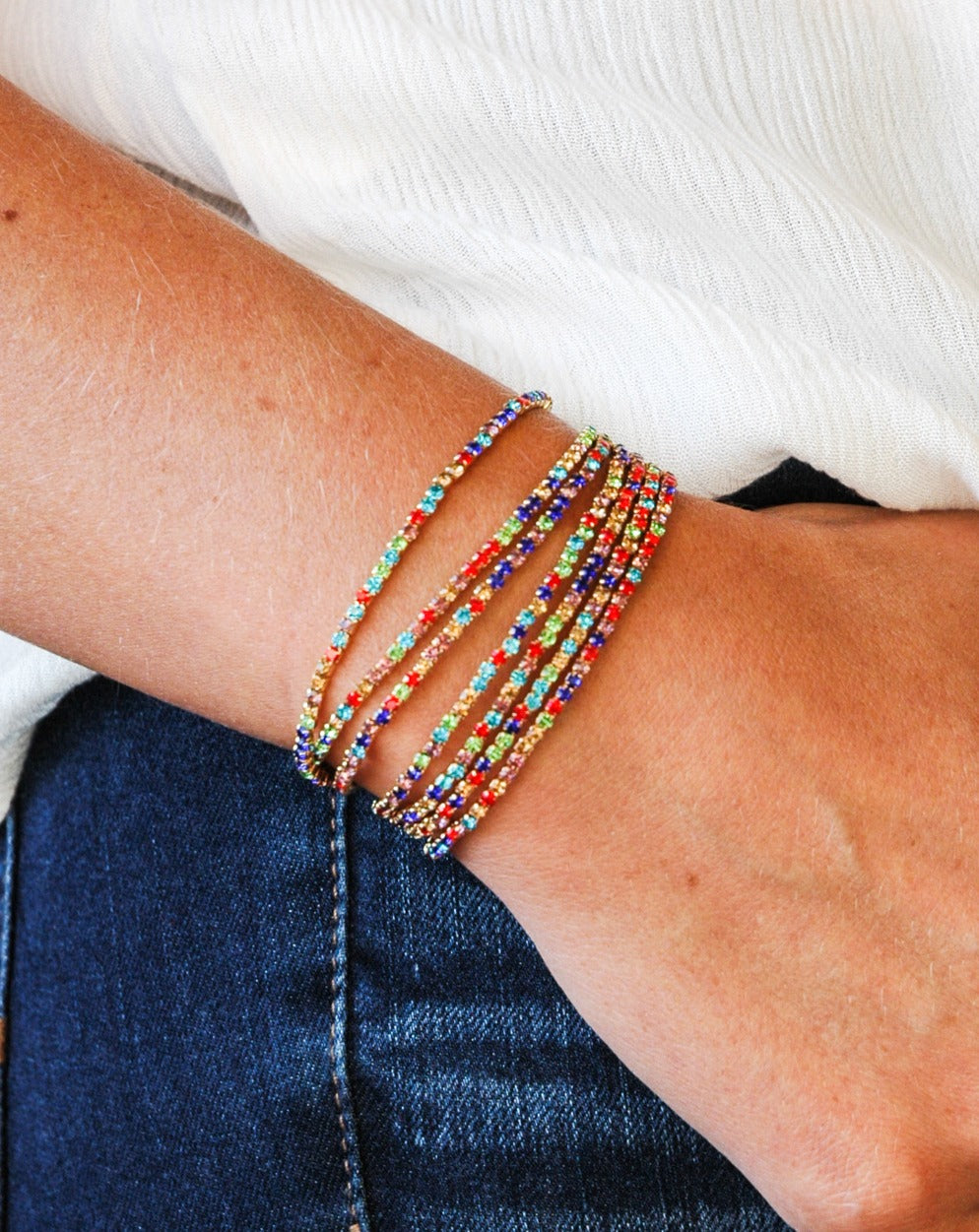 Seven Piece Stackable Bracelet
