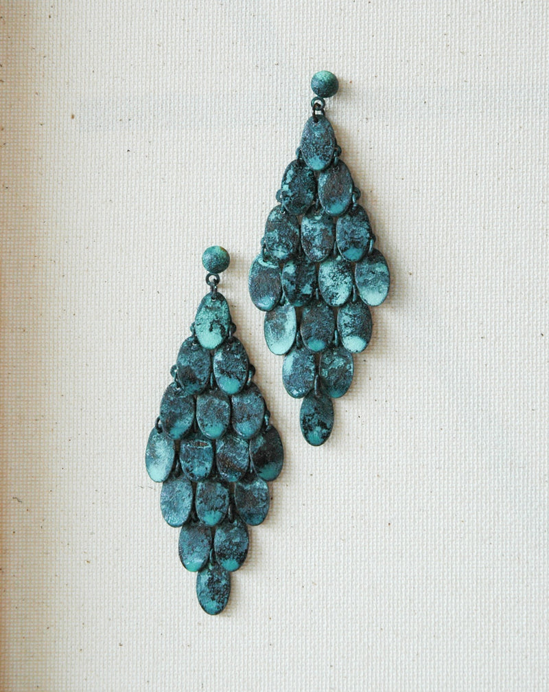 Turquoise Scale Earring