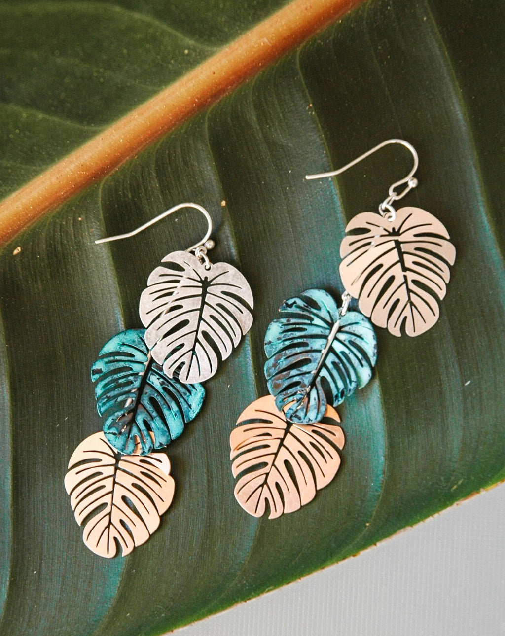 Palm Leaf Earings