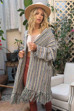 Stripe A Pose Cardigan