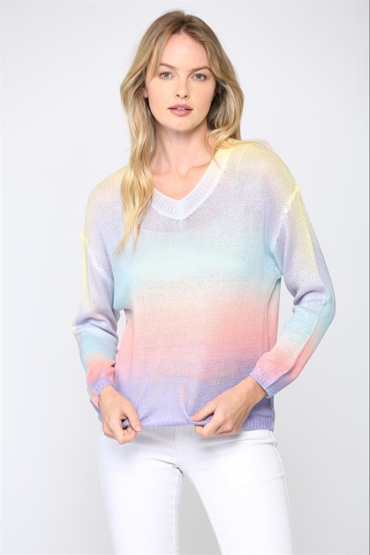 SUPER LIGHT GRADIENT SWEATER