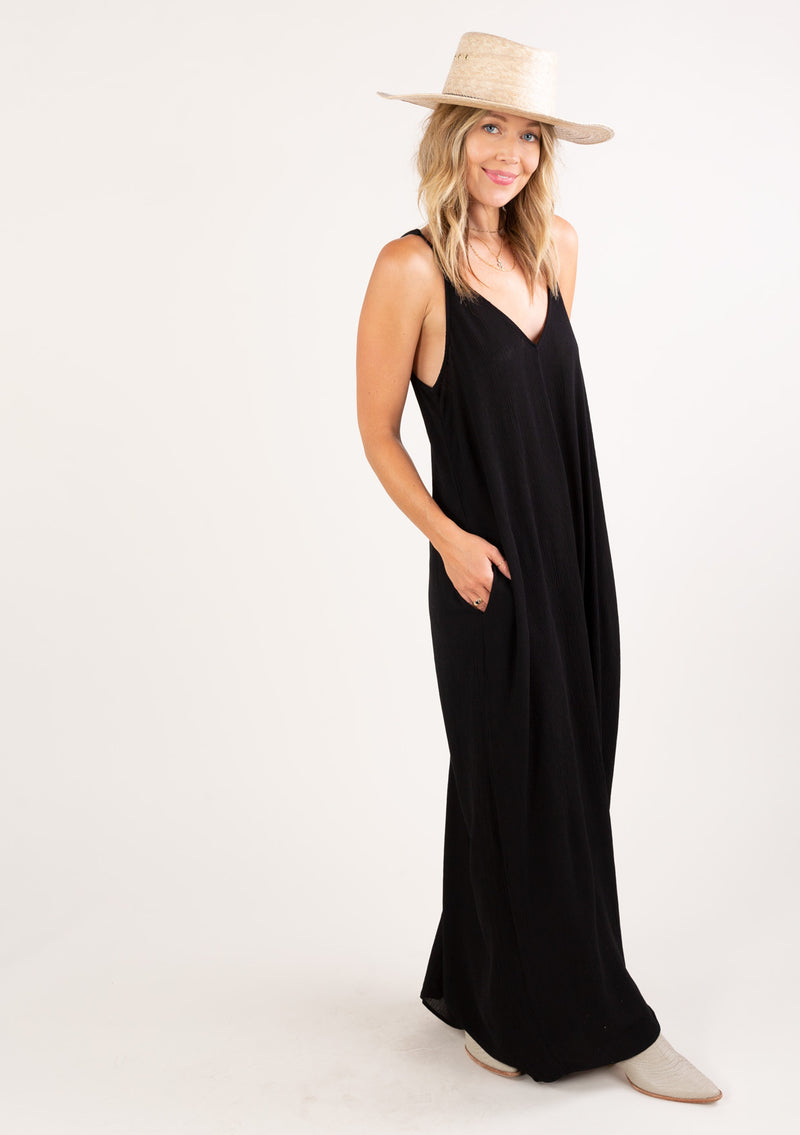 Solid Cocoon Spaghetti Strap Maxi Dress