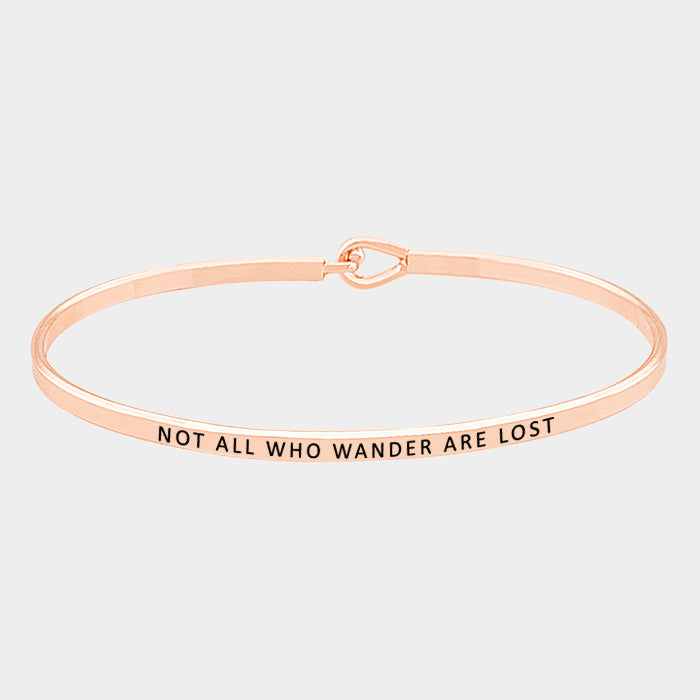 Not All Who Wander Is Lost