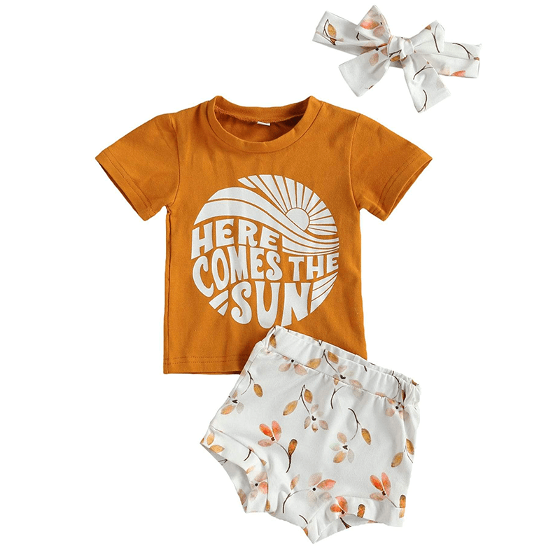 Here Comes The Sun 3 pc T-shirt Set